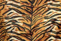 Zbliżenie tkaniny wzór królewski tygrys lub Bengalia tygrys w czarnej brown pomarańcze i bielu, zdjęcia royalty free