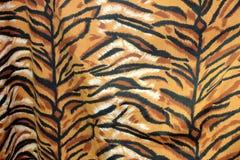 Zbliżenie tkaniny wzór królewski tygrys lub Bengalia tygrys w czarnej brown pomarańcze i bielu, zdjęcie royalty free