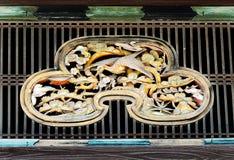 Zbliżenie transom okno, Ninomaru-goten pałac, Nijo kasztel, K Obraz Royalty Free