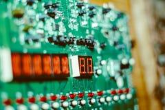 Zbliżenie układ scalony na elektronicznej desce Fotografia Stock