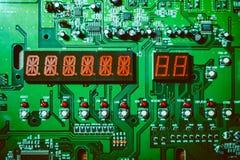 Zbliżenie układ scalony na elektronicznej desce Obraz Stock
