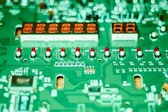 Zbliżenie układ scalony na elektronicznej desce Obraz Royalty Free