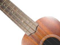 Zbliżenie ukulele na odosobnionym fotografia royalty free