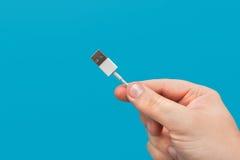 Zbliżenie USB kablowy związek Obrazy Stock
