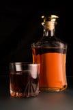 Zbliżenie whisky butelka Zdjęcia Stock