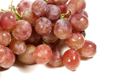 Zbliżenie wiązka Soczyści Czerwoni winogrona Fotografia Stock