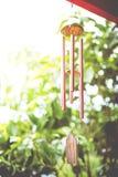 Zbliżenie Wiatrowy Chime fotografia stock