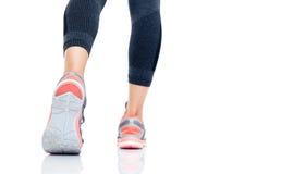 Zbliżenie wizerunek nogi iść biegać Fotografia Royalty Free