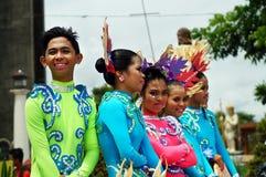 Zbliżenie wizerunki różnorodne twarze w różnorodnych kostiumach uliczny tancerz Obraz Royalty Free