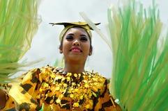 Zbliżenie wizerunki różnorodne twarze w różnorodnych kostiumach uliczny tancerz Zdjęcie Royalty Free