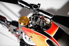 Zbliżenie wspólnej i cyklicznej smoły kontrolny mechanizm radio kontrolował helikopter Zdjęcia Stock