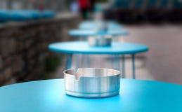 Zbliżenia ashtray na stole Obraz Royalty Free