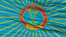 Zbliżenia Astana miasta flaga, Kazachstan Obraz Stock