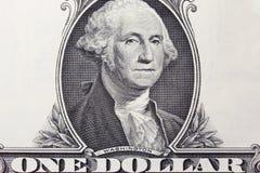 Zbliżenia 1 dolarowy rachunek Fotografia Royalty Free