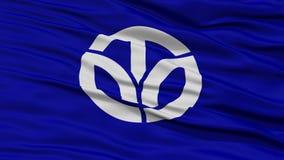 Zbliżenia Fukui Japonia prefektury flaga Zdjęcia Stock