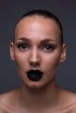 Zbliżenia glam headshot fotografia royalty free