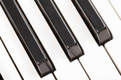 zbliżenia klawiatury pianino Fotografia Royalty Free
