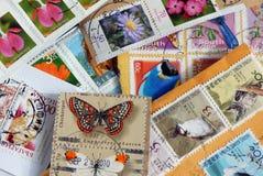 zbliżenia kolekci znaczek Obraz Stock