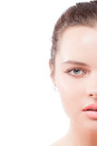 zbliżenia twarzy przyrodnia portreta kobieta Obraz Royalty Free