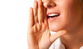 zbliżenia usta kobiety target803_0_ Obrazy Stock