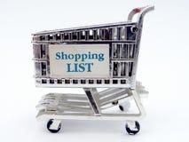 zbliżenia wózka na zakupy Zdjęcie Stock