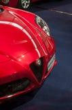 Zbliżenie alfa Romeo 4C Fotografia Royalty Free