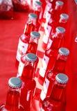 Zbliżenie asortowane sodowane butelki Obrazy Stock