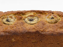 Zbliżenie bananowy chleb Obrazy Royalty Free