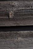 Zbliżenie ciemne drewniane deski Obrazy Royalty Free