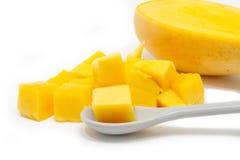 Zbliżenie diced mango Obrazy Royalty Free