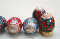 Zbliżenie Easter jajko na stole Zdjęcie Royalty Free