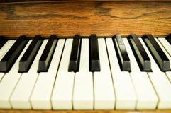 Zbliżenie fortepianowi klucze Fotografia Royalty Free