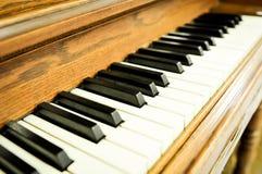 Zbliżenie fortepianowi klucze Zdjęcia Royalty Free