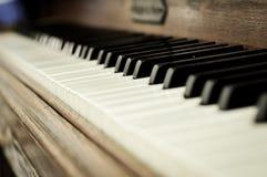 Zbliżenie fortepianowi klucze Obrazy Royalty Free