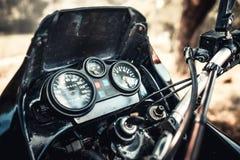 Zbliżenie fotografia offroad motorowy rower plenerowy Fotografia Stock
