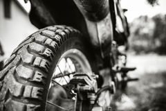 Zbliżenie fotografia offroad motorowy rower plenerowy Obraz Royalty Free