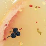 Zbliżenie galanteryjny napój w Martini szkle z peppercorns Zdjęcia Stock