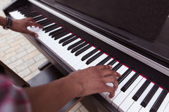 Zbliżenie klawiaturowy pianino Fotografia Stock