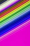 Zbliżenie kolorowy papier Fotografia Royalty Free