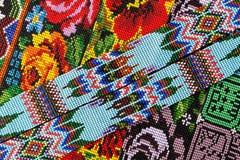 Zbliżenie koralików wzory w Gwatemala Zdjęcia Royalty Free