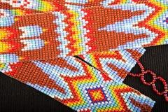 Zbliżenie koralików wzory w Gwatemala Obrazy Royalty Free