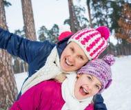 Zbliżenie matka i córka Obrazy Stock