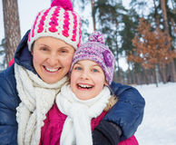 Zbliżenie matka i córka Obraz Royalty Free