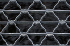 Zbliżenie metalu most nad strumieniem Obrazy Royalty Free
