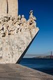 Zbliżenie nawigator statua przy usta schronienie w Lisbon, Portugalia Fotografia Stock