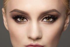Zbliżenie oka makeup Zdjęcia Stock
