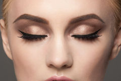 Zbliżenie oka makeup Obrazy Stock