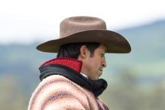 Zbliżenie portret kowboj w Ekwador Obraz Stock