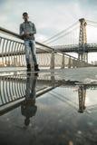 Zbliżenie portret potomstwa, murzyn w Miasto Nowy Jork Fotografia Royalty Free