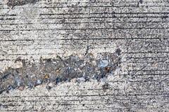 Zbliżenie powierzchni brudna betonowa ulica fotografia royalty free